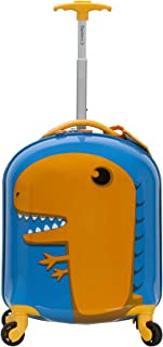 Rockland My First Luggage Polycarbonate Hardside Spinner, Dinosaur (Multi) - B02-DINOSAUR