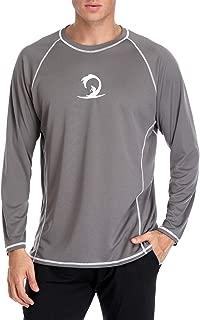 BeautyIn Men's Long Sleeve Rashguard Sun Shirt UV Protect Athletic Shirts UPF 50