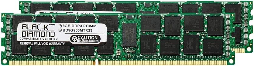 16GB 2X8GB Memory RAM for Asus Servers RS926-E7/RS8 240pin PC3-6400 800MHz DDR3 ECC Registered RDIMM Black Diamond Memory Module Upgrade