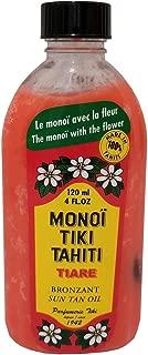 Monoi Tiki Tahiti Rouge Tiare Body Suntan Bronzant Coconut Oil