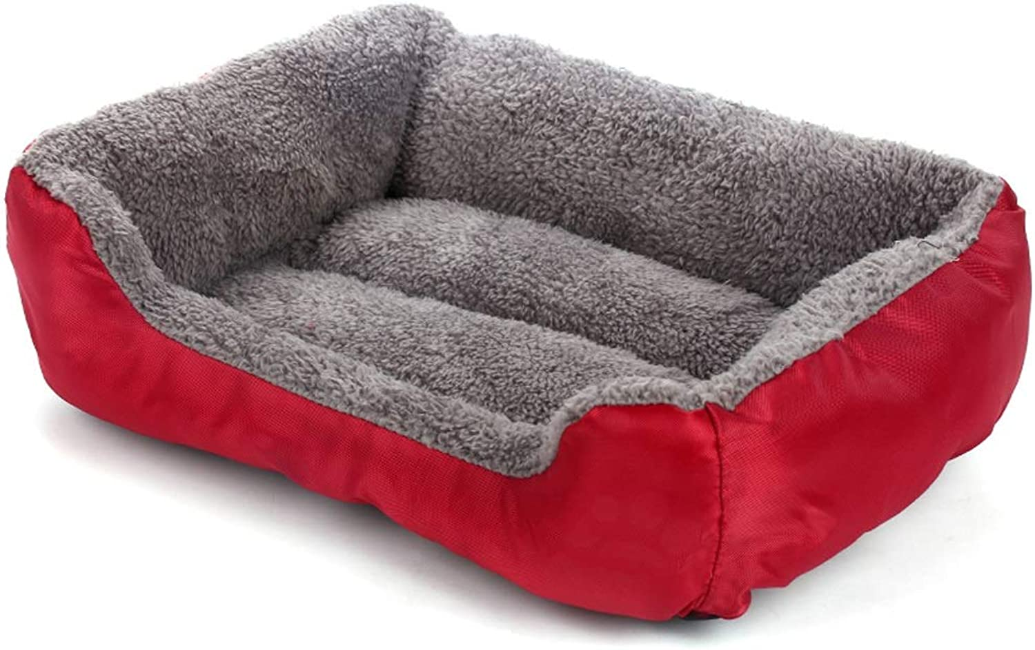 Kennel, Large Mediumsized Dog Winter Warm Thick Cat Litter Autumn Winter Pet Nest Mat Bed Room House Six colors Optional (color   pink Red, Size   S)
