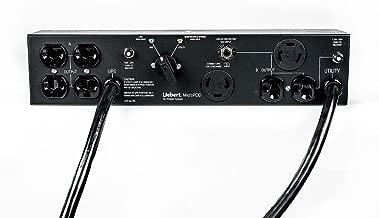 Vertiv Liebert MicroPod External Maintenance Bypass Switch 2 L5-15R Outlets 2U Rack Mountable Electrical Cords Included (MP2-130E)