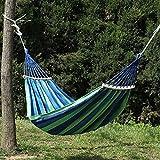 LHaoFY Doble Ancho Grueso De La Lona De La Hamaca Portátil Al Aire Libre Acampada, Jardín Columpio Silla Hangmat Azul Rojo (Color : 190x150cm)