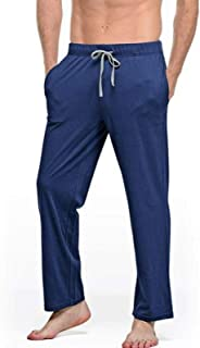 Pantalones Harem Holgados Lisos para Hombre con Bolsillos con cordón Pantalones de Yoga de Pierna Ancha livianos Pantalone...