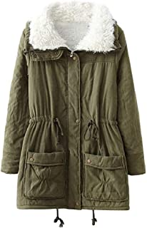 ACE SHOCK Winter Coats for Women Plus Size, Faux Fur Lined Parka Jackets Long Warm 11 Colors XS-2X