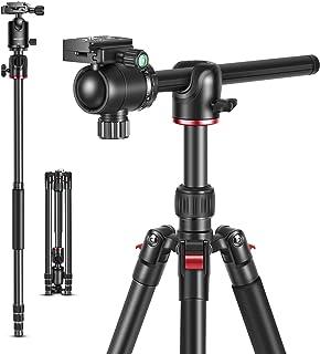 Neewer 2 in 1 Kamera Stativ Einbeinstativ mit um 360 Grad drehbarer Mittelsäule und Schnellwechselplatte mit Kugelkopf 65 Zoll Aluminiumlegierung Stativbeine für DSLR Kameras
