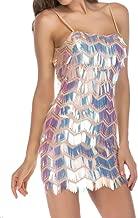 فساتين M&S&W Club Dersses للنساء مثير بأشرطة سباغيتي ضيق من قطعة واحدة بالترتر فستان قصير مشمشي مقاس L