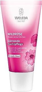 WELEDA Wildrose Glättende Nachtpflege, reichhaltige Creme zur Regeneration, Erholung und Schutz der Haut beim Schlafen, Naturkosmetik mit natürlichen Nährstoffen 1 x 30 ml
