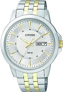 ساعة كوارتز للرجال من سيتيزن، بشاشة عرض انالوج وسوار من الستانلس ستيل - طراز BF2018-52A