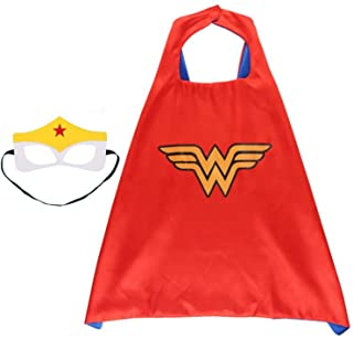 Fun Cartoon Superhero Cape with mask for Boys and Girls - Birthday Party/Halloween/Christmas Costume
