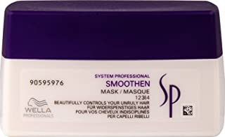 Wella SP Smoothen Hair Mask for Coarse and Unruly Hair, Anti-frizz effect. Ideally for Curly Hair That Needs Control, 200mL