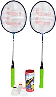 JJ Jonex Badminton set 2 Rackets and 3 Shuttles with full cover @ Kin Store