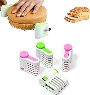 Mary Paxton 2 Set 5 Layers DIY Cake Bread Cutter Leveler Slicer,Adjustable Cutting Fixator Guide Tools DIY Cake Decorating...