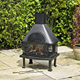 Kingfisher LBBQ BBQ Time Log Burner Chiminea BBQ - Black
