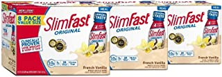 Slimfast original French Vanilla Shake – Ready To Drink Weight Loss Meal Replacement – 10g of Protein – 11 Fl. Oz Bottle – 8Count (Pack Of 3)