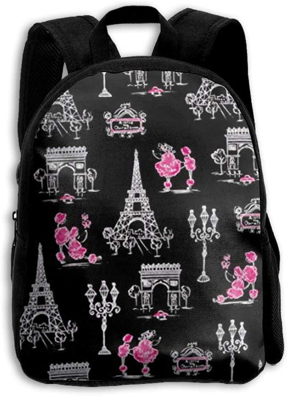 Paris Paris Paris Life Tower schwarz Vintage College Backpack Student School Bookbag Rucksack Travel Daypack B07Q3DSXRY  Angenehmes Aussehen 167f62
