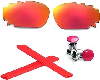 Walleva Vented Polarized Lenses + Earsocks + Bolts For Oakley Jawbone - Multiple Options Available