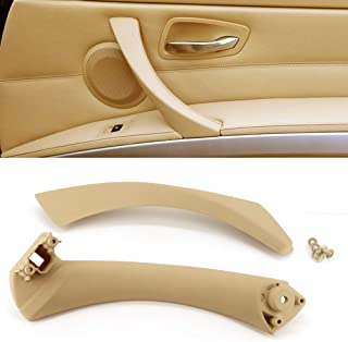Inner Door Panel Handle and Door Pull Outer Trim Cover for BMW E90 E91 E92 E93 3 Series Left Rear Fits BMW 323 325 328 330 335 Rear Driver Side Beige