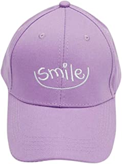MKJNBH Embroidery Smile Baseball Cap Simple Unisex Love Casual Solid Color Bend Student Visor Outdoor Hat