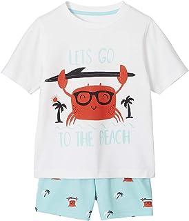 53458f52eec VERTBAUDET Pijama con Short niño Azul Claro Liso con Motivos 10A