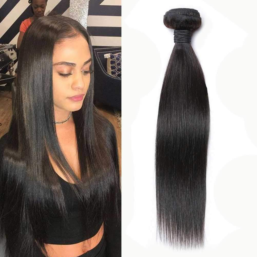 Forawme Silky Straight Unprocessed Brazilian Human Cheap mail order sales Limited time sale Weaves Q Hair
