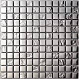 Decostyle DEC-47082626113 Mosaico Decorativo, Plata, 8 mm, 30 x 30 cm