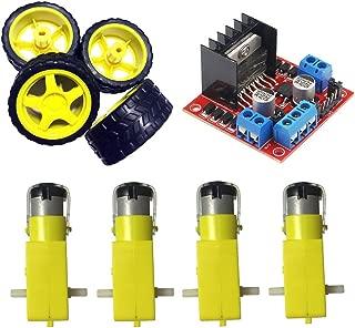 L298N Motor Drive Controller Dual H-Bridge Robot Stepper Motor Control Module And Smart Car Tire With DC Motor For Arduino UNO R3 Mega Smart Car Power