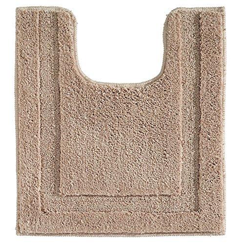 InterDesign Spa Alfombras de baño, alfombra antideslizante para inodoro de microfibra de poliéster, marrón claro