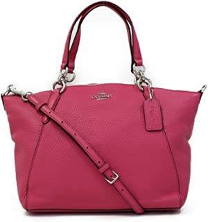 Coach Leather Small Kelsey Cross Body Bag Pink