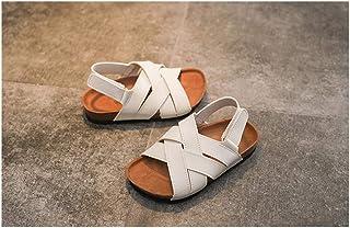 Kids Sandals, Adjustable Easy Fasten Velcro Childrens Summer Shoes, Outdoor Lightweight Breathable Open Toe Sandal