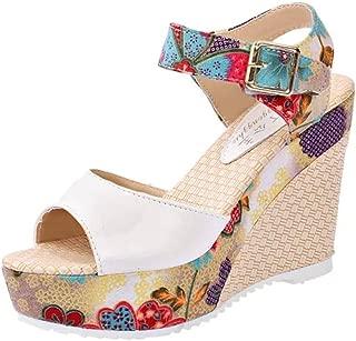 Nevera Women's Shoes Fish Mouth Espadrille Platform High Heels Wedges Sandals