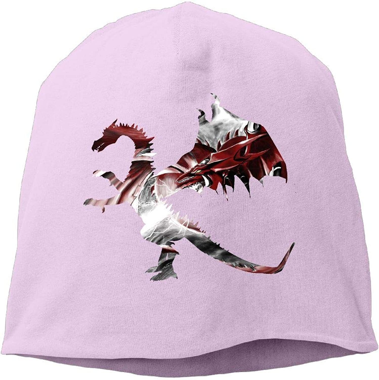 Jusxout Knit Cap Beanie Hats Winter Warm Dragon Angry Women's Fashion
