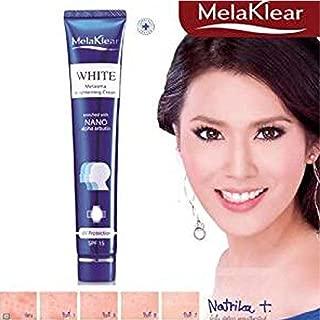 Melaklear White Melasma Brightening Cream UV Protection SPF 15 with Nano Alpha Arbutin Dark Spot 30 G.