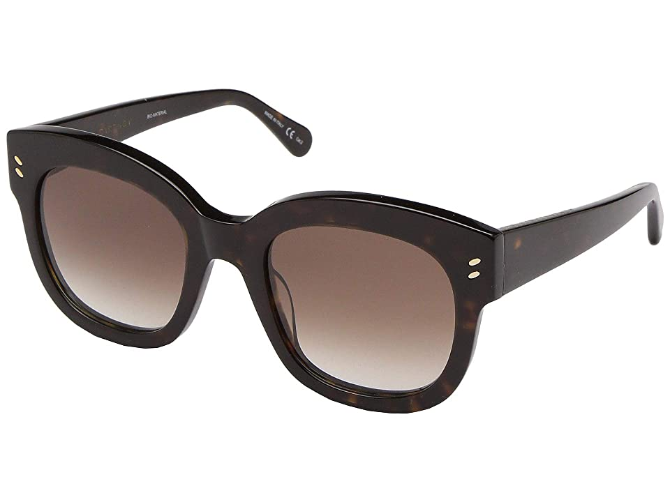 Stella McCartney SC0026S (Avana/Avana/Brown) Fashion Sunglasses, Black