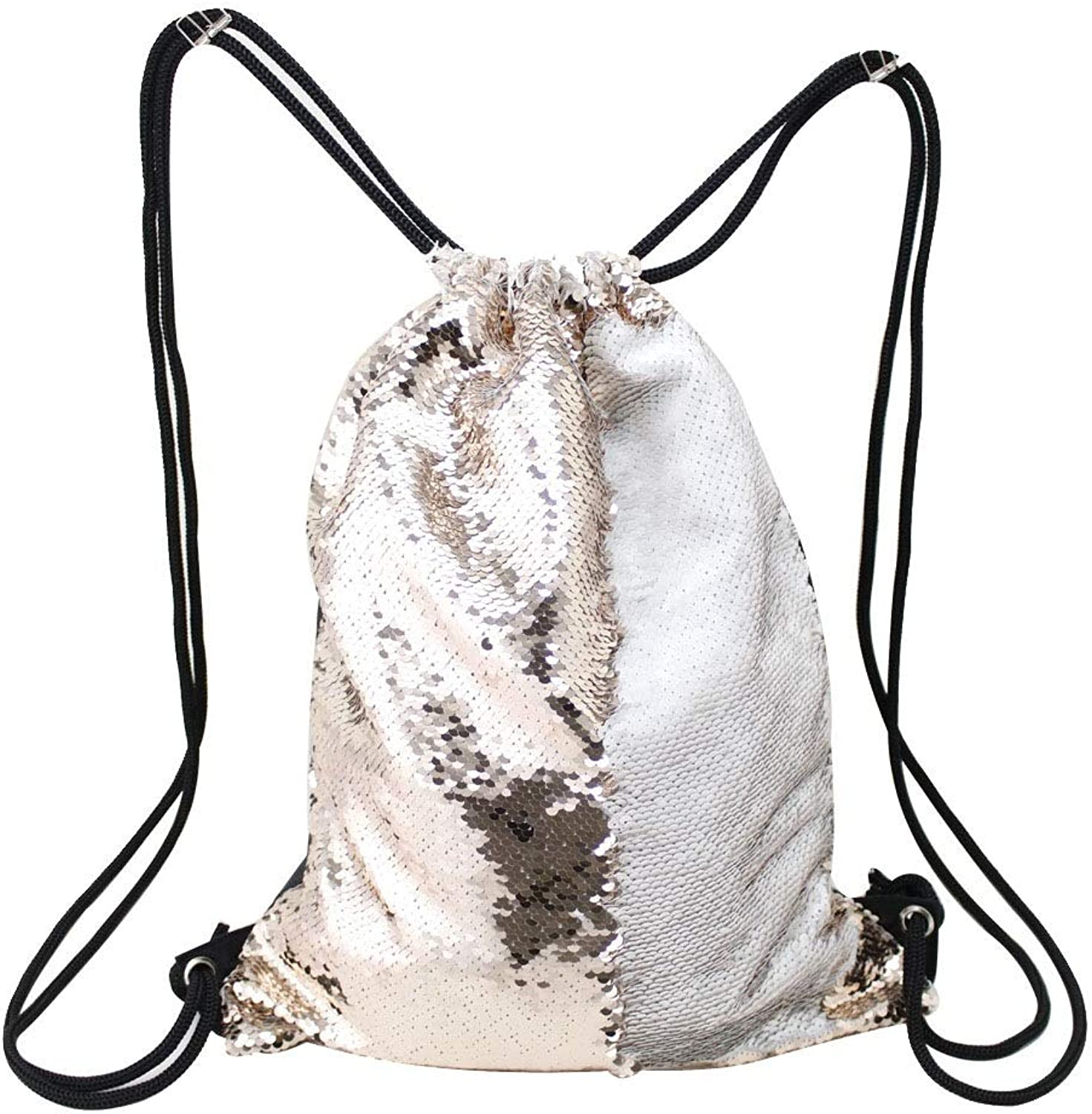 Women Backpack Purse Sequin Bag,Magic Sparkly Sequin Drawstring Backpack Glitter Sports Dance Bag Shiny Outdoor Beach Travel Backpack Backpack Shoulder Bag for Ladies (color   F, Size   One Size)