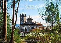 Camino Portugues - JakobswegAT-Version (Wandkalender 2022 DIN A3 quer): Pilgerweg entlang der portugisischen Kueste von Porto nach Santiago de Compostela (Monatskalender, 14 Seiten )
