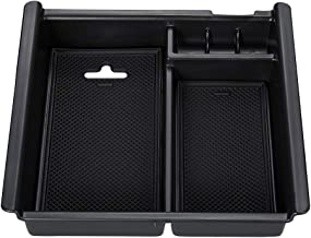ZOIBV Center Console Organizer ABS Material Tray,Armrest Box Secondary Storage,Sundries Container for Toyota Tacoma Compatible 2016 2017 2018 2019 Accessories