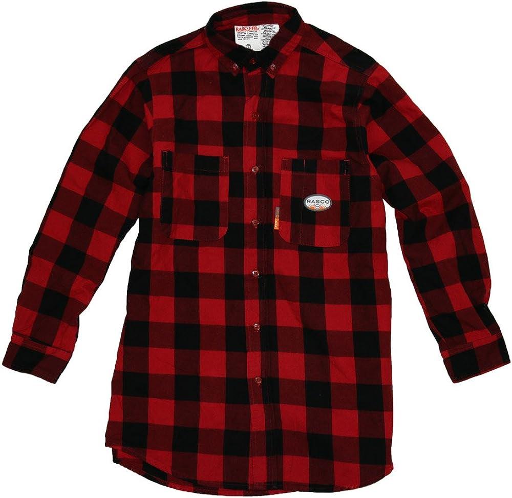 Rasco FR Red & Black Buffalo Plaid Shirt