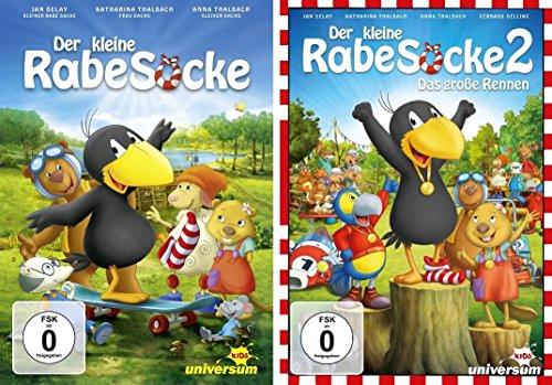 Der kleine Rabe Socke - Kinofilm 1 + 2 im Set - Deutsche Originalware [2 DVDs]