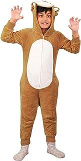 Kids Boys Girls Soft Fluffy Animal Lion A2Z Onesie One Piece Xmas Costume 2-13 Y