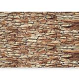 murando - XXL Fototapete Steinoptik 3D 500x280 cm - Größe Format - Vlies Tapete - Moderne Wanddeko - Design Tapete - Wandtapete - Wand Dekoration - Stadt Textur City f-A-0474-a-b