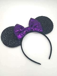 Purple Mickey Ears, Rainbow Minnie Mouse Ears, Sparkly Minnie Ears, Mouse Ears, Electrical Parade Ears