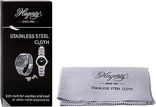 Hagerty Chiffon en Acier Inoxydable 36 x 30 cm I Care & Cleaning I Imprégnation 100 % Coton Chiffon de Nettoyage pour Mont...