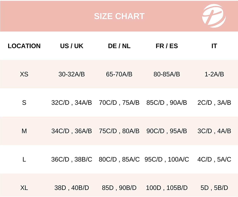 DOBREVA Women's Lace Padded Bralette Plus Size Wireless Plunge Longline Bra