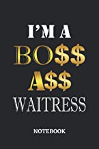I'm A Boss Ass Waitress Notebook: 6x9 inches - 110 graph paper, quad ruled, squared, grid paper pages • Greatest Passionat...