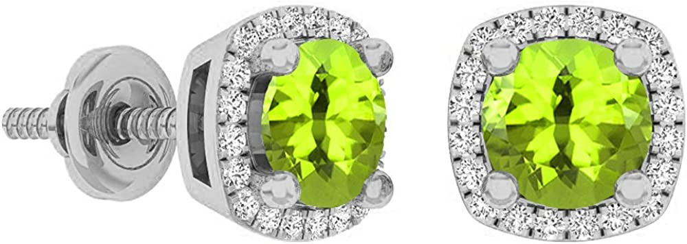 Dazzlingrock Collection 10K 5 MM cheap Ladies Each OFFicial mail order Stud Gemstone Halo