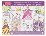 Melissa & Doug- Princesas y Hadas Bloc Gigante para Colorear, Multicolor (14263) , color/modelo surtido