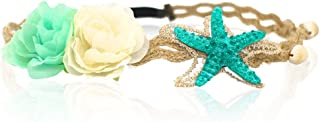 Starfish Shell Wave Headband, Elastic Flowers Hairband, Flower Headpiece, Mermaid Hair Band