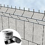 Venezia - Protección para esgrima de jardín valla - Diseno de franjas de pantalla de vellón para 3D-perfilado valla de alfombra doble – PVC gratis