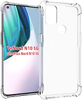 TingYR Case for OnePlus Nord N10 5G, Thin TPU Soft Transparent Back Shockproof Protective, Compatible with OnePlus Nord N1...